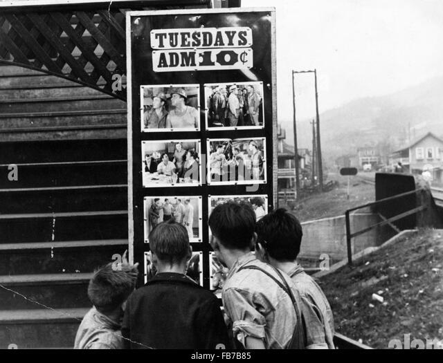 Movie theater, Omar, West Virginia, America, 1930's - Stock-Bilder