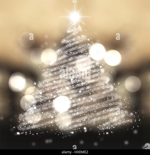 Christmas tree of stars festive background - Stock Image
