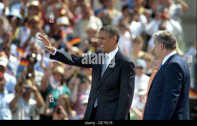 Berlin, Germany, U.S. President Barack Obama at the Brandenburg Gate - Stock Image