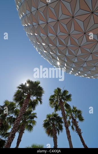 Spaceship Earth geodesic sphere at Epcot Theme Park and Center in Walt Disney World Resort Lake Buena Vista (Orlando), - Stock Image