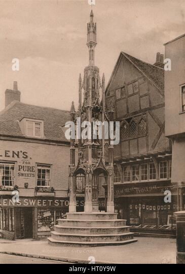 The Buttercross, Winchester, Hampshire, early 20th century(?). Artist: Unknown. - Stock Image