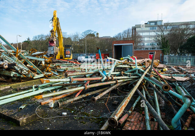 Scrap metal demolition site stock photos scrap metal for Depot bergedorf