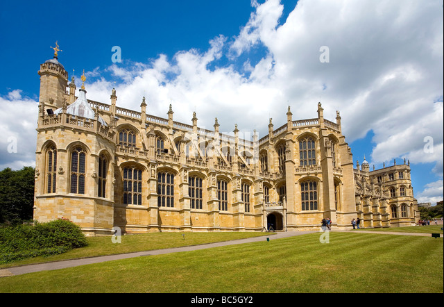 St Georges Chapel at Windsor Castle England - Stock Image