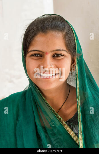 Mädchen in Bera, Rajasthan, Indien. - Stock-Bilder