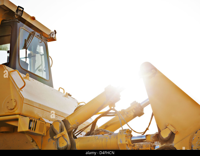 Close up of machinery on site - Stock Image
