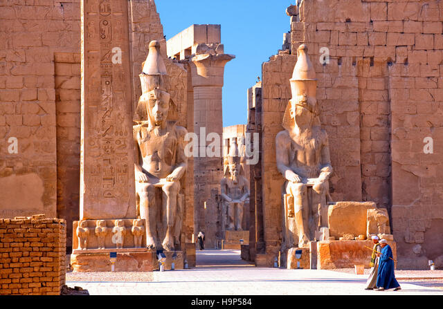 Luxor temple, Egypt - Stock Image