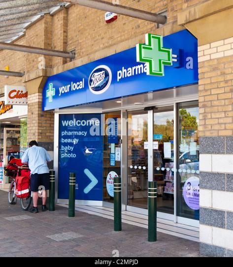 Boots chemist pharmacy shop, UK - Stock Image