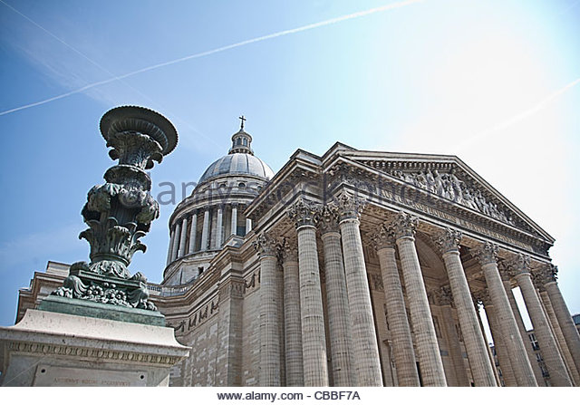 Low angle view of the Pantheon - Stock Image