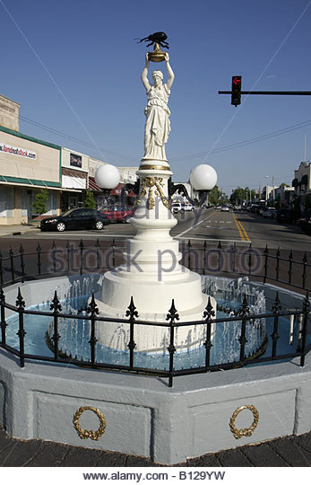 Alabama Enterprise Main Street Boll Weevil Monument erected 1919 agricultural pest cotton growing region downtown - Stock Image