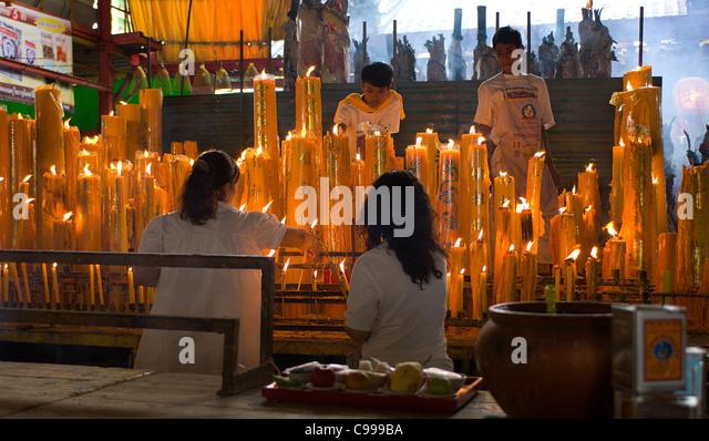 Buddhist Shrine Candles Stock Photos & Buddhist Shrine ...