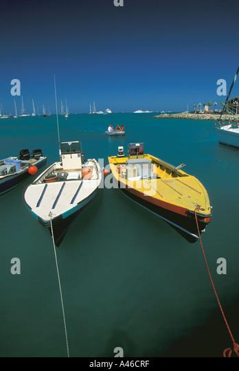 St Martin Fishing Boats - Stock Image