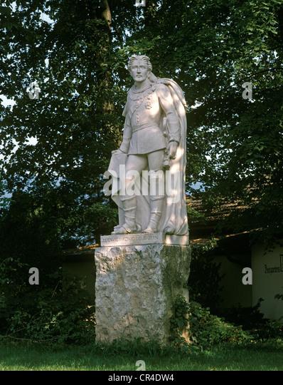 Memorial of King Ludwig II of Bavaria, Gut Kaltenbrunn estate, Tegernsee, Upper Bavaria, Germany, Europe - Stock Image