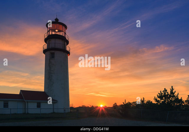 Cape Cod?s oldest lighthouse, locally known as the Highland Light - Stock-Bilder