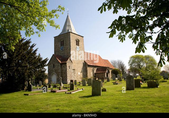Church of Saint Nicholas, Great Wakering, near Southend, Essex - Stock Image
