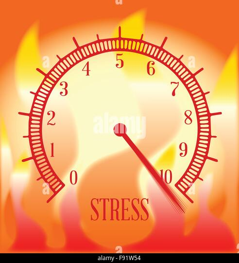 Stress Level Meter : Migraine illustration stock vector images alamy