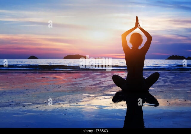 beautiful yoga and meditation background - Stock Image