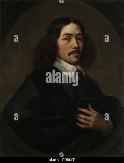 Portrait of a Man, presumably Bartholomeus Vermuyden, formerly entitled Johan Anthonisz van Riebeeck, First Governor - Stock Image