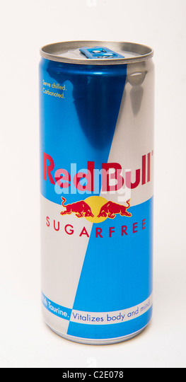 Red Bull sugarfree 'sugar free' diet Energy drink can - Stock-Bilder