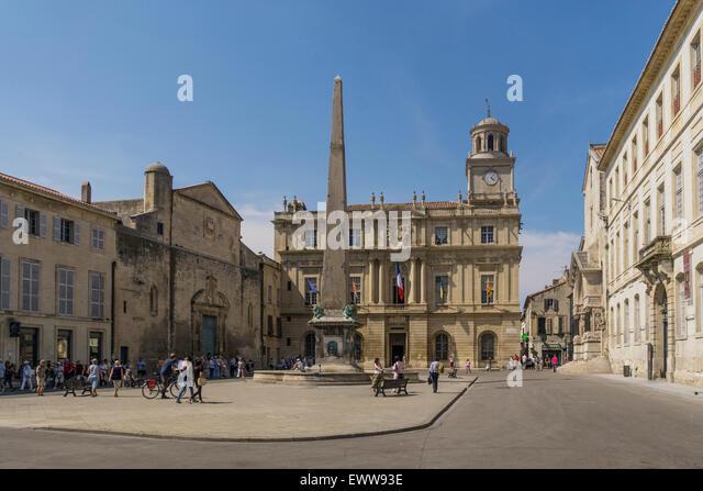 Arles , Place de la Republique, Hotel de Ville, - Stock Image