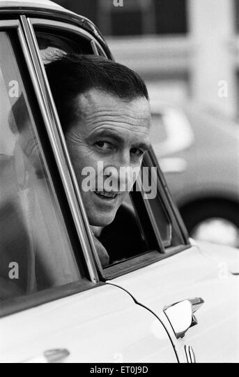 Leicester City manager Jimmy Bloomfield leaving Filbert Street in his car. 2nd April 1974. - Stock Image