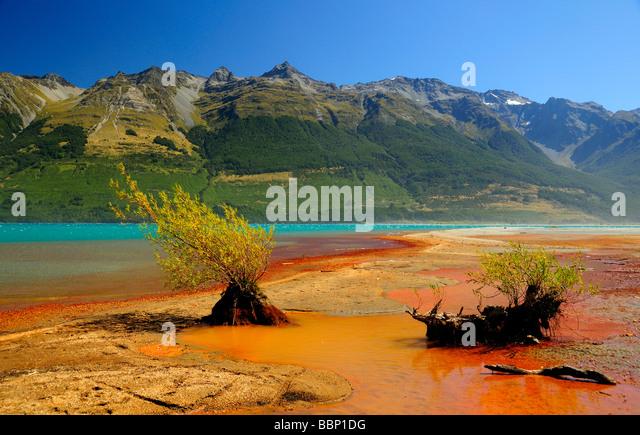 Wakatipu Lake Glenorchy South Island New Zealand - Stock Image