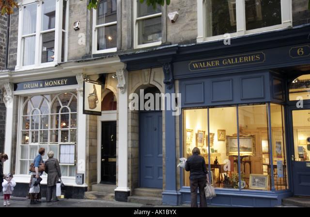 UK, England, Harrogate, Montpellier Gardens, shopping, - Stock Image
