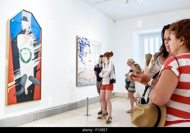 Spain Europe Spanish Madrid Centro Paseo del Prado Museo Thyssen-Bornemisza Museum art gallery exhibition collection - Stock Image