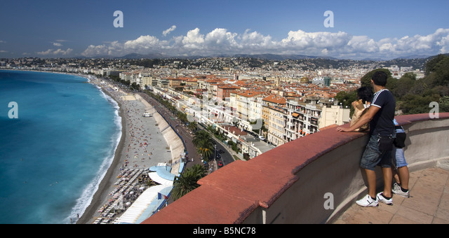 France Nice Promenade des Anglais viewpoint - Stock Image