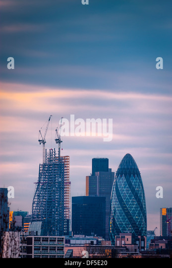The City of London skyline England - Stock Image