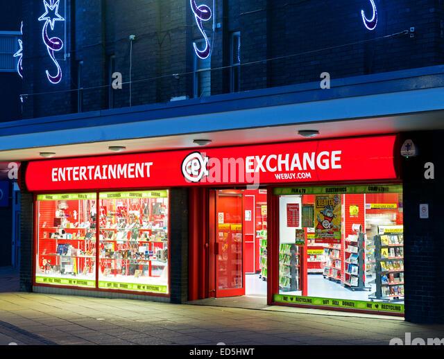 Entertainment Exchange in Burnley, Lancashire, England UK - Stock Image