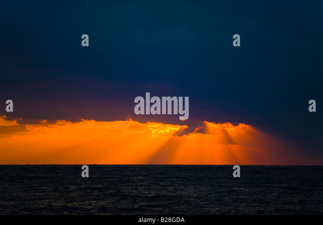 Sunset at Kato Pafos, Cyprus - Stock Image