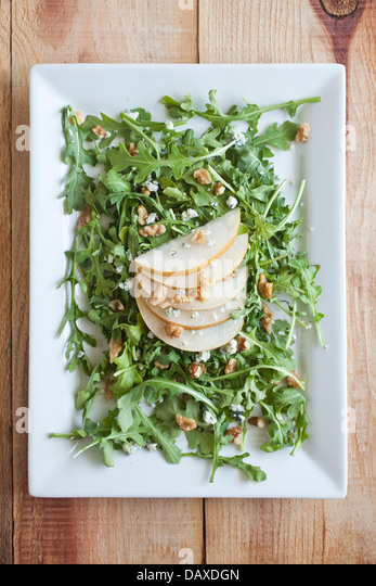 Pear salad - Stock Image