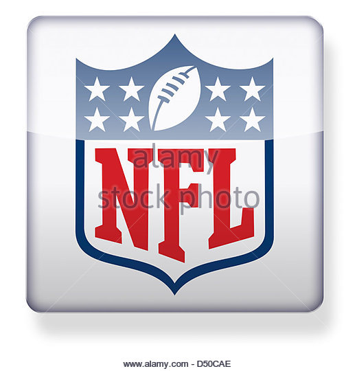 NFL logo as an app icon. Clipping path included. - Stock Image