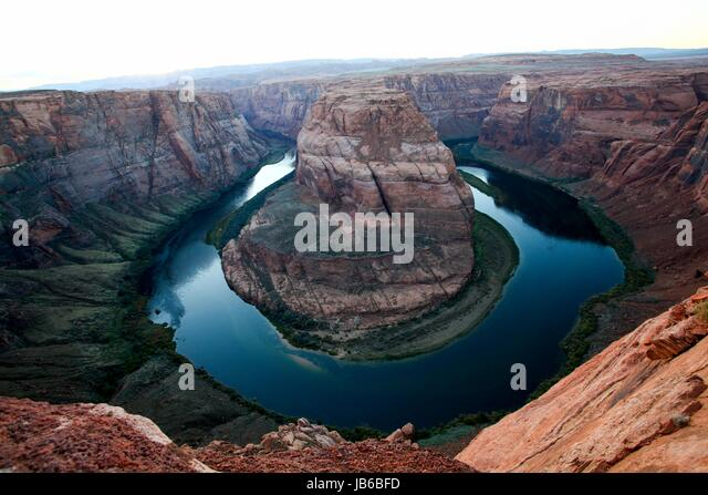 Elevated view of Horseshoe Bend on the Colorado River, Arizona, USA. - Stock-Bilder