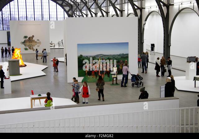 Impressionen - Ausstellung 'Martin Kippenberger: sehr gut/ very good', Hamburger Bahnhof, 21. Februar 2013, - Stock Image