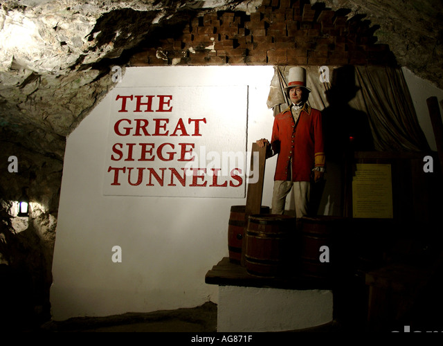 The Great Siege Tunnels Gibraltar - Stock Image