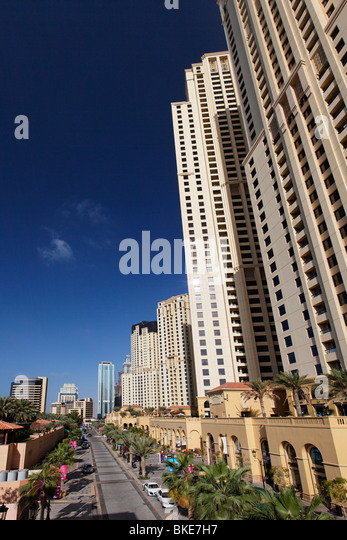 Jumeirah Beach Residence , skyscaper , Moevenpick Hotel, - Stock Image
