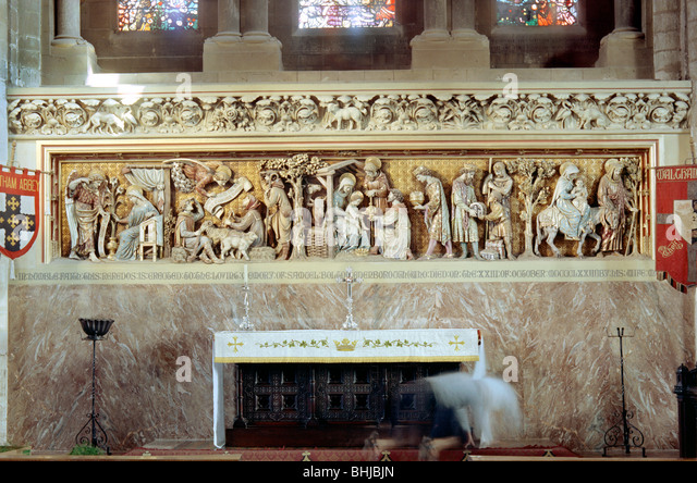Reredos at Waltham Abbey, Essex, 1964. Artist: Laurence Goldman - Stock Image