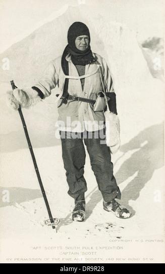 Robert Falcon Scott - at the Antarctic - Stock Image