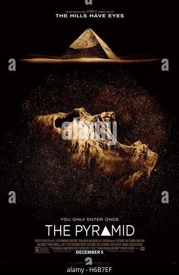 MOVIE POSTER THE PYRAMID (2014) - Stock-Bilder