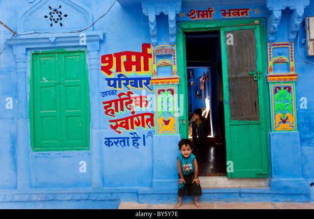 Blue city, Jodhpur, Rajasthan, India - Stock-Bilder