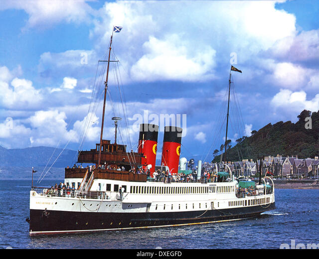 Archive picture of the King George V in Oban Bay, Argyll 1970's. - Stock-Bilder