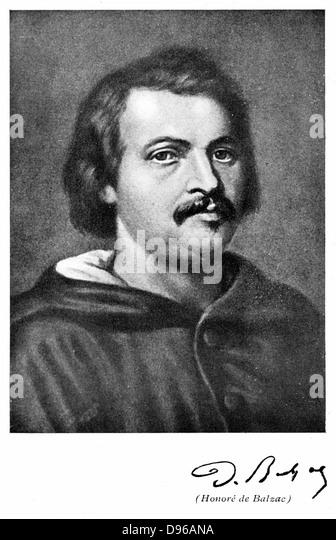 Honore de Balzac (1799-1850) French novelist and literary critic - Stock-Bilder
