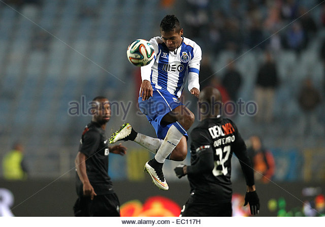 PORTUGAL, Coimbra: Porto's Brazilian defender Alex Sandro in action during Premier League 2014/15 match between - Stock Image