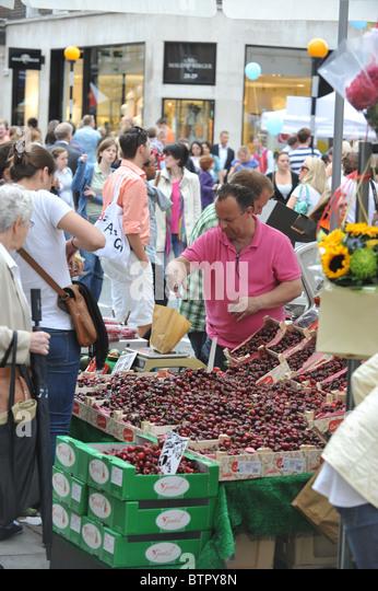 street Market, Marylebone, London, UK - Stock Image