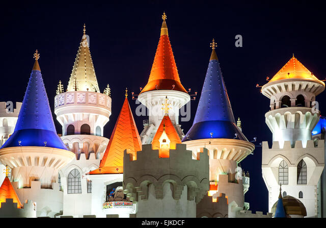 Excalibur Hotel towers, Las Vegas, Nevada USA - Stock Image