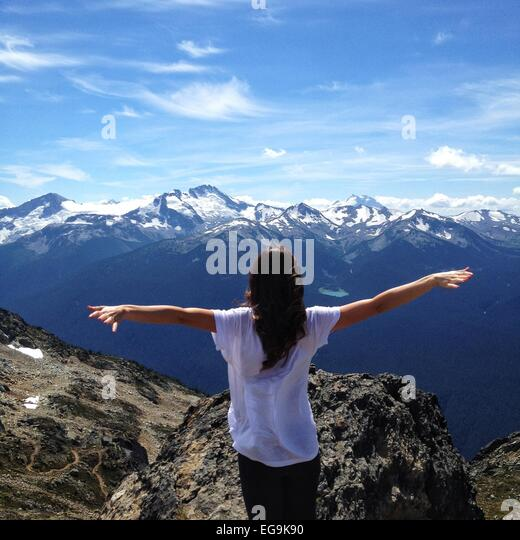 Canada, British Columbia, Whistler, Travelling free - Stock Image