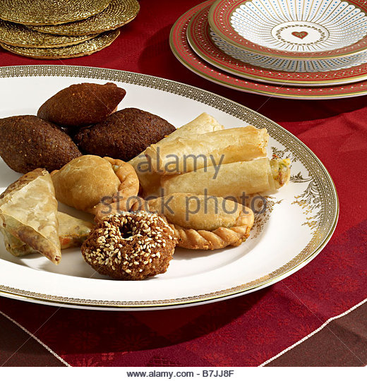 middle eastern snacks mezze - Stock Image