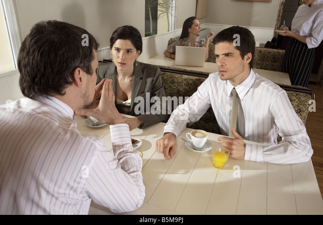Morning meeting. - Stock Image