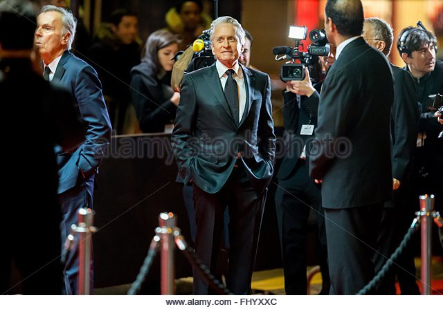 Paris, France. February 26th, 2016. FRANCE, Paris: US actor Michael Douglas walks on the red carpet of the 41st - Stock Image